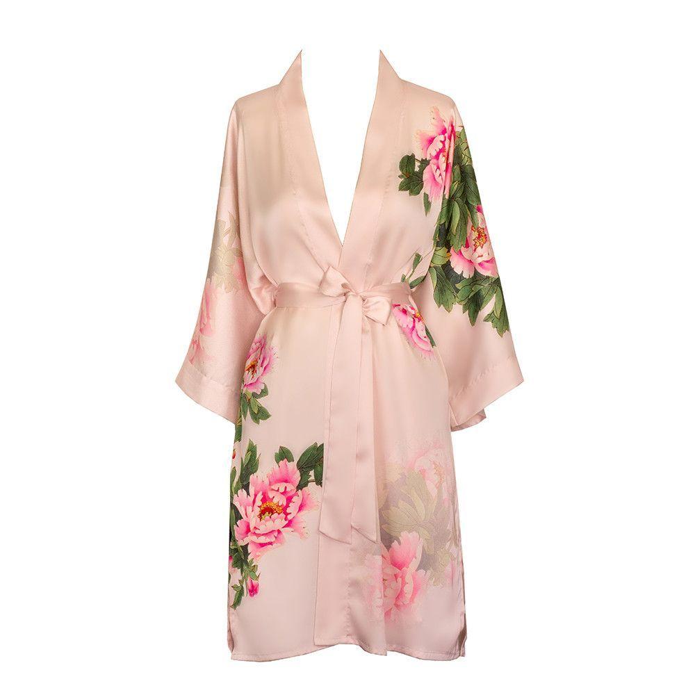 Peony & Bird Kimono Robe | Pijama y Duerme
