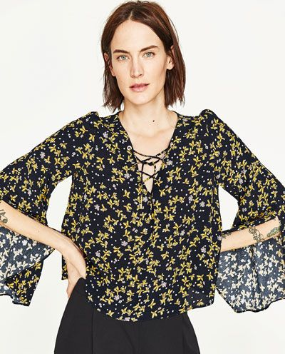 Image 2 of FLORAL PRINT BLOUSE from Zara