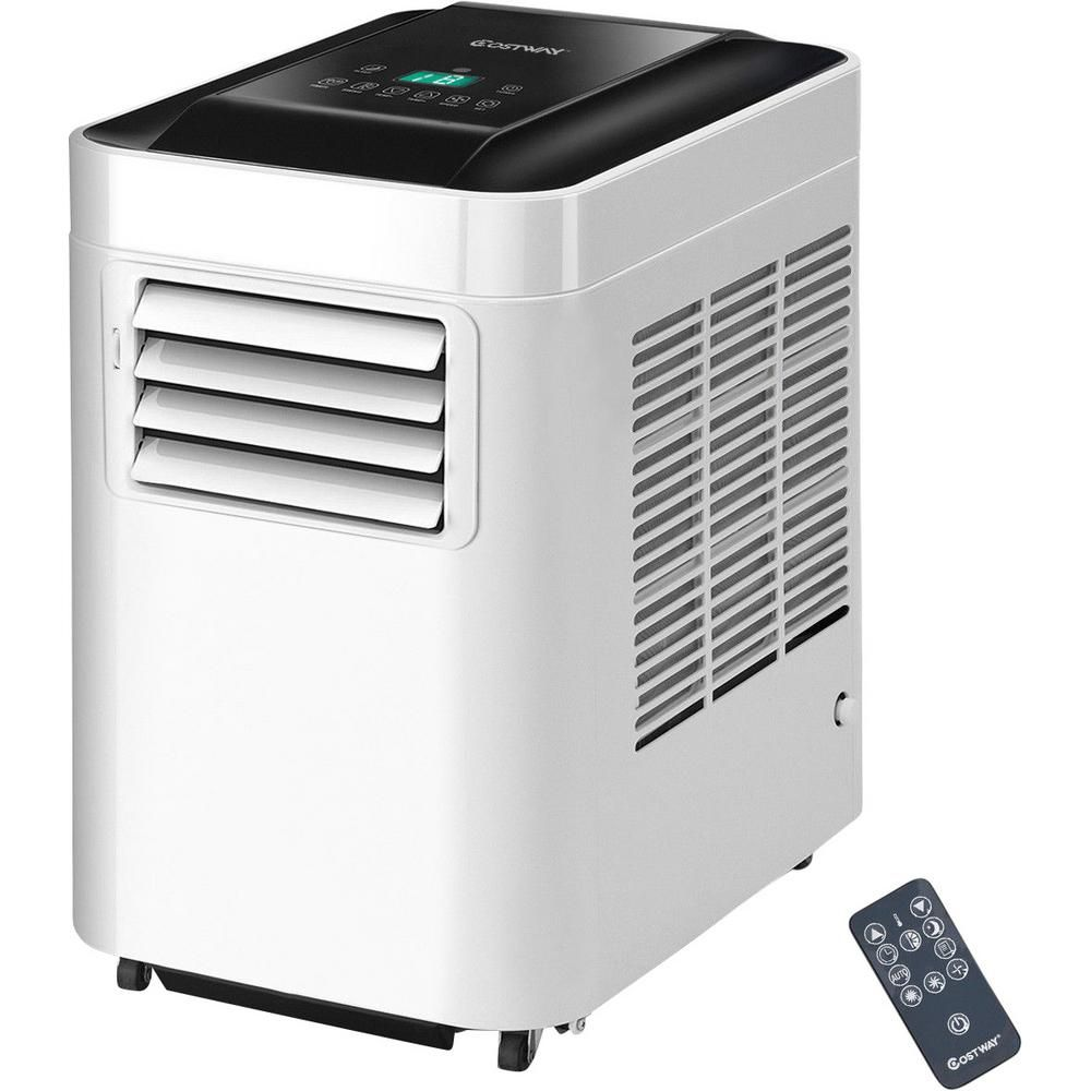 Costway 10000 Btu Portable Air Conditioner Ac Unit And Dehumidifier Lcd In White With Remote Control Ep23475 The Home Depot In 2020 Portable Air Conditioner Portable Air Cooler Air Conditioner