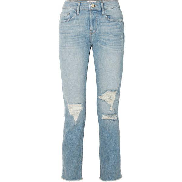 Le Boy Straight Cropped Mid-Rise Jeans - Blue Frame Denim 83aUpu2