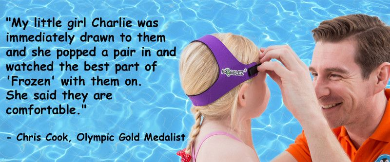 15a1aac2ea3 Olympic Finalist Chris Cook prefers Frogglez Goggles for his young swimmers!