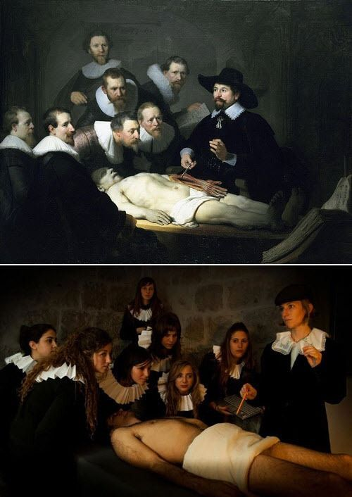 """The Anatomy Lesson of Dr. Nicolaes Tulp"""" by Rembrandt 