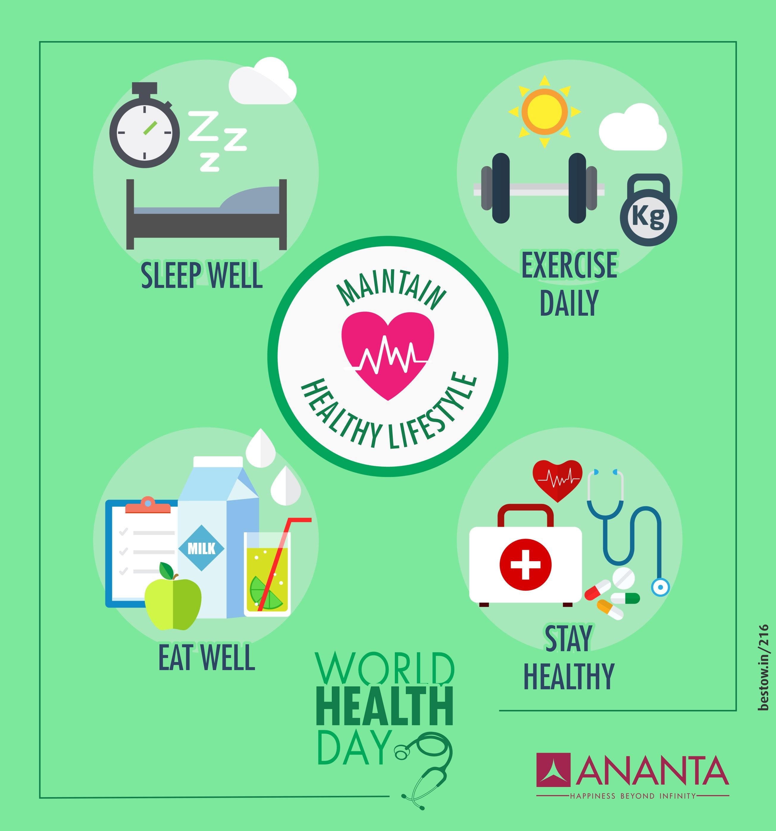 Make Healthy Choices Because Health Is The Real Wealth Ananta Builders Wishes Everyone A Very Happy World World Health Day Funny Health Quotes Healthy Choices