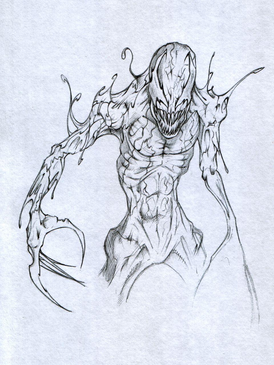 Spiderman vs carnage drawings - photo#43