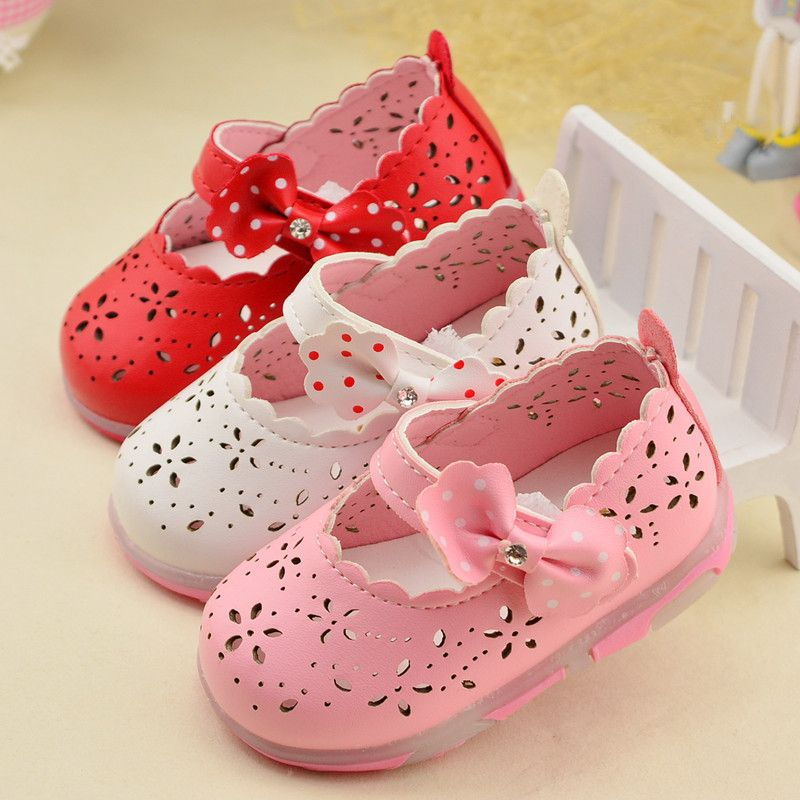 a816ff9a8 Child Baby Girls Sandals Fashion Shoes Summer Kids Sandal Flat With Bow  Cut-Out Princess Cute Flash Hollow Shoes 1-2 Years. Yesterday s price  US   9.90 ...