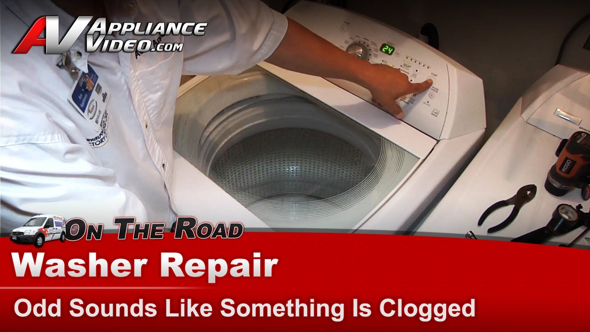 Washer repair u diagnostic sounds like something is clogged