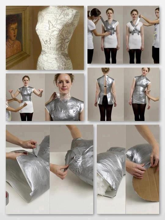 Duct tape mannequin