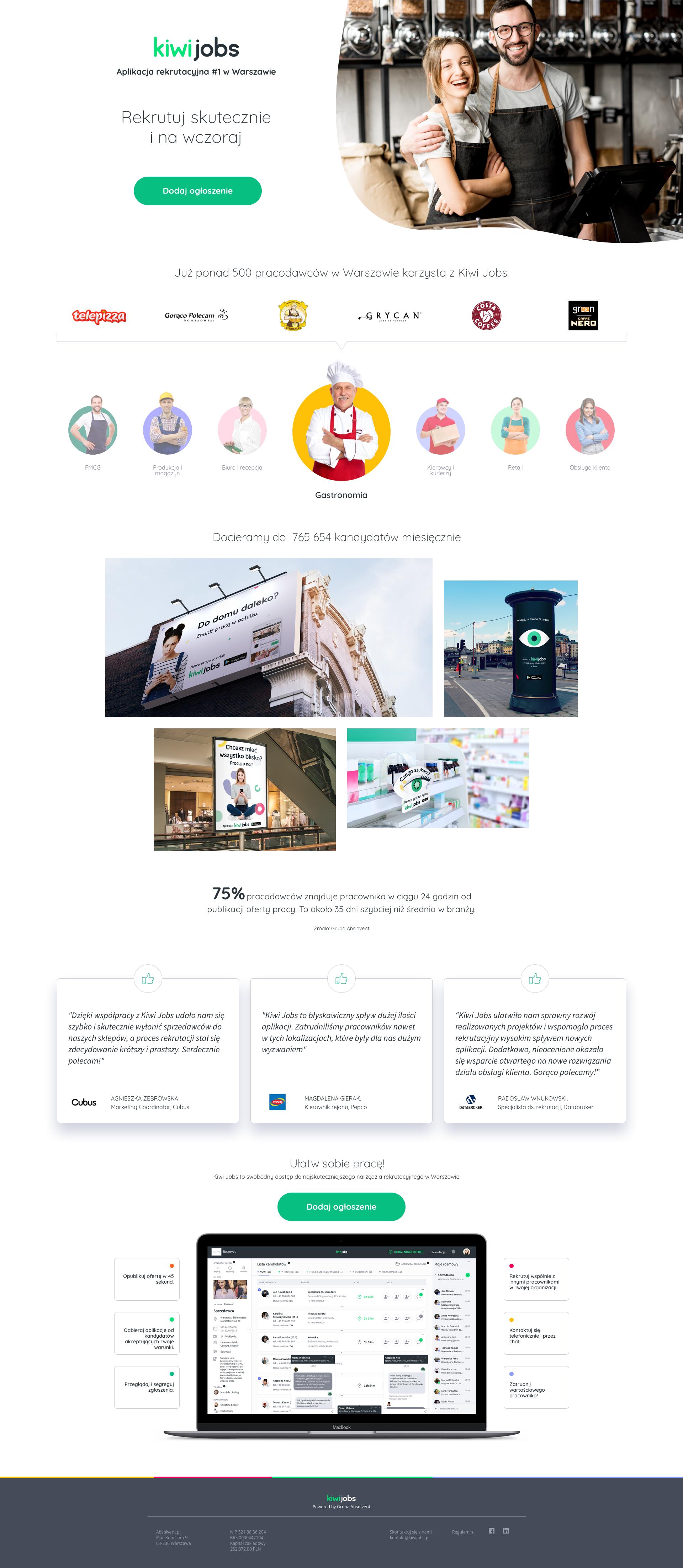 Kiwi Jobs Landing Page B2b Best Landing Page Design Landing Page Landing Page Design