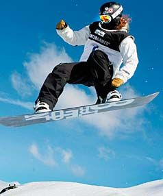 I love to snowboard-- While I may have Shaun White's flowing, red locks, I am far from having his boarding skills.  I'll get my half pipe tricks down, eventually...That's a lie. #DDBChicago #Application