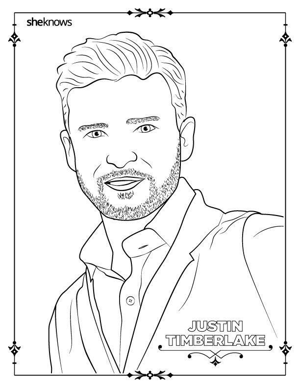 adult-coloring-book-pages-of-hollywood-s-hottest-men-justin ...