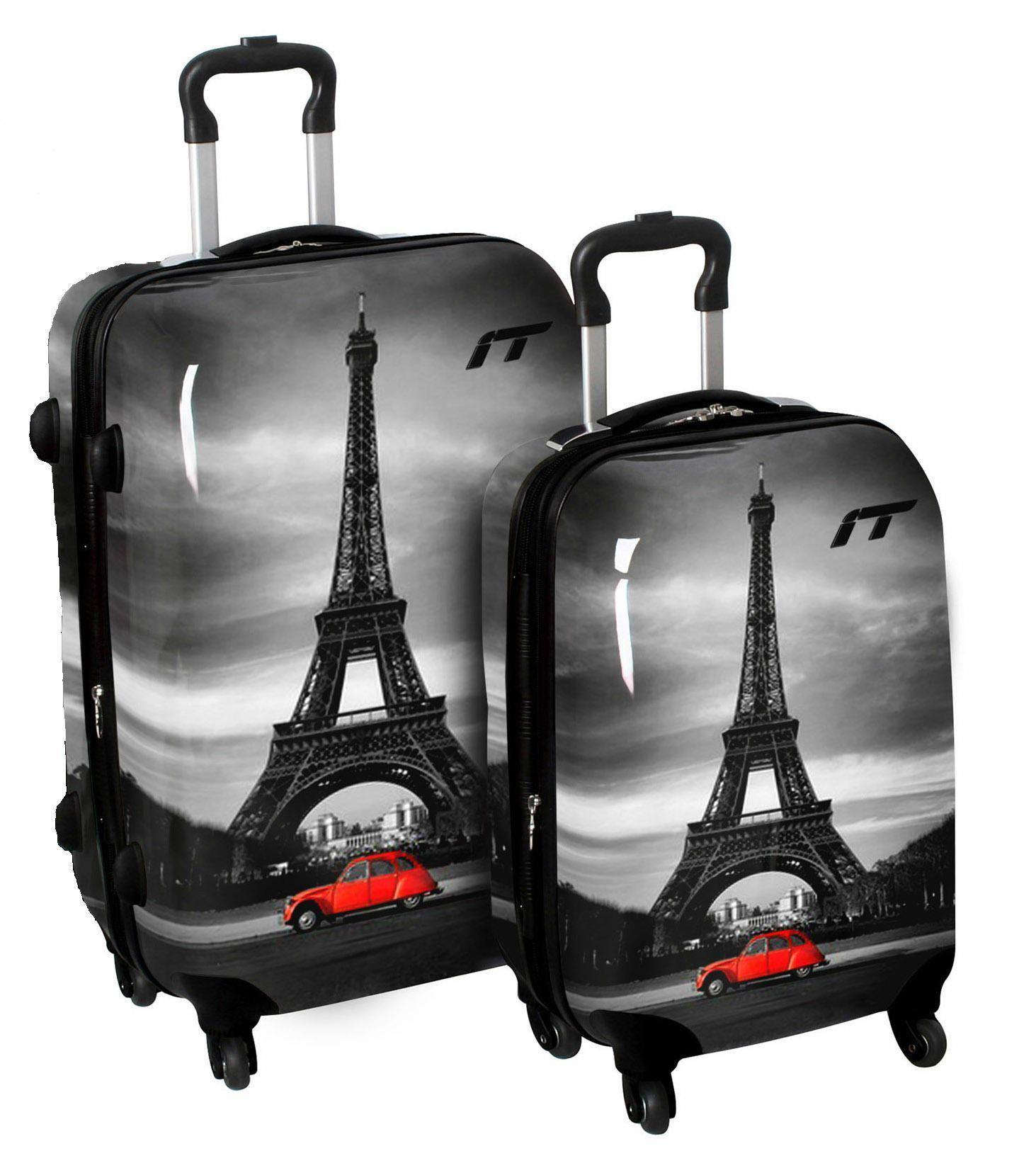 149dcc26a International Traveller Shiny Classic Paris 4-Wheeled 2 Piece Luggage Set  81141/2-PARIS - Luggage Pros