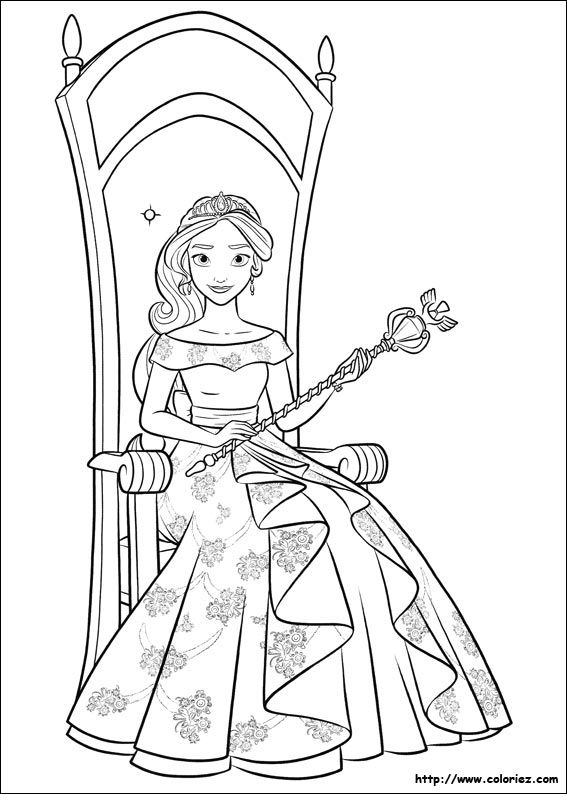 It is a picture of Sizzling princess elena coloring page