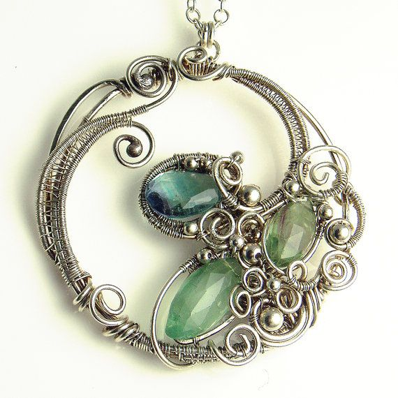 Lovely wire wrapped pendant