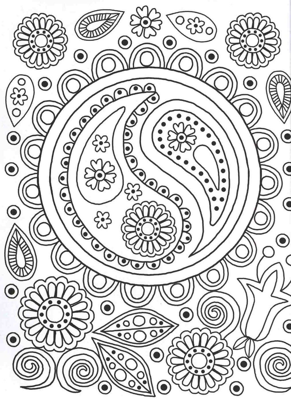 Ying Yang colouring page Patterns Colouring Book art