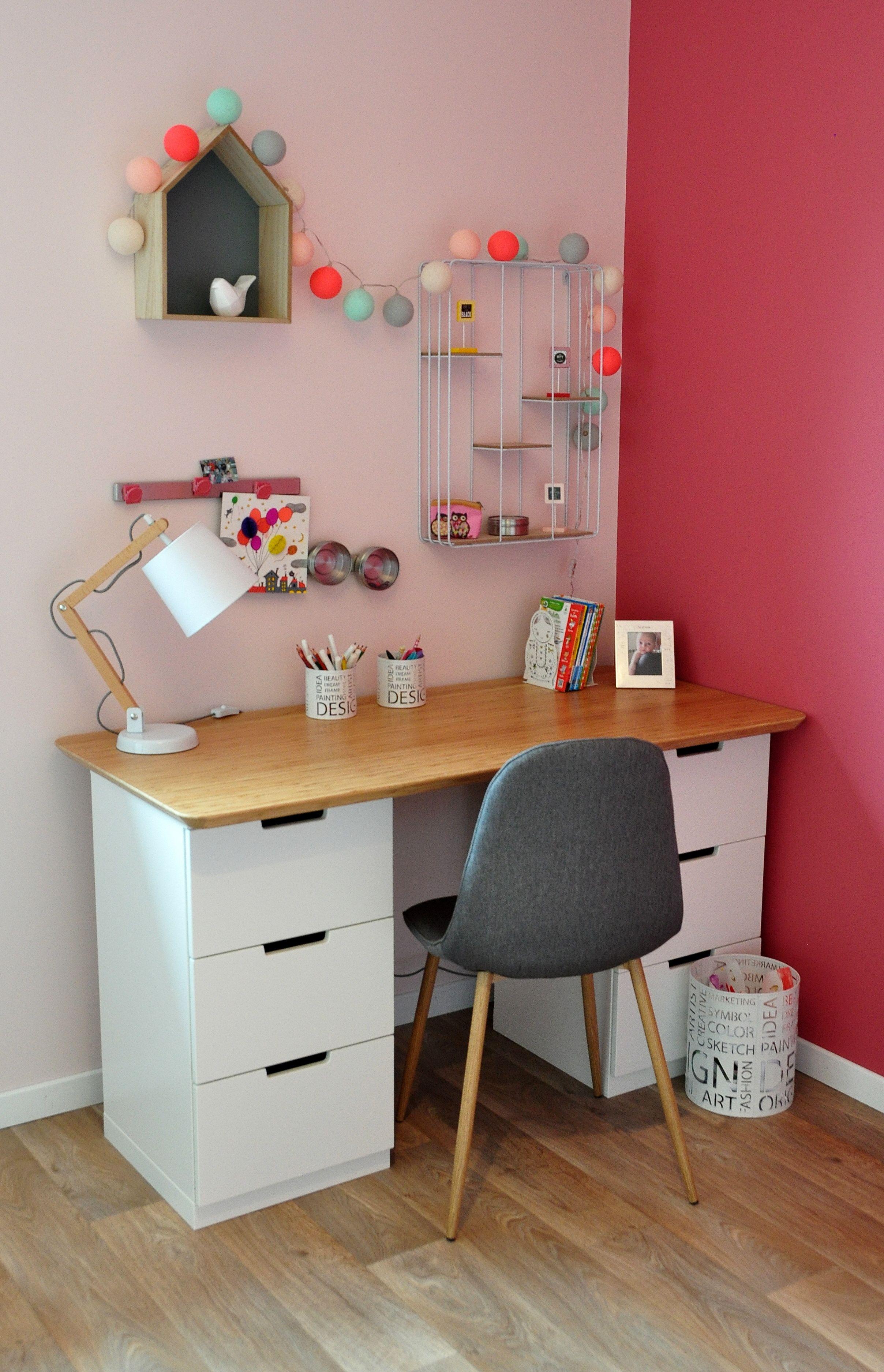 bureau d enfant avec meubles ikea et