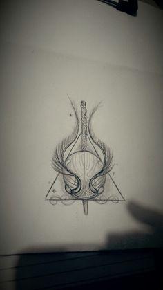Harry Potter Stirbt Heiligt Goldenen Schnatz Tattoo Tatowierung Tatuagens Harry Tatuagens Harry Potter Tatuagem De Harry Potter