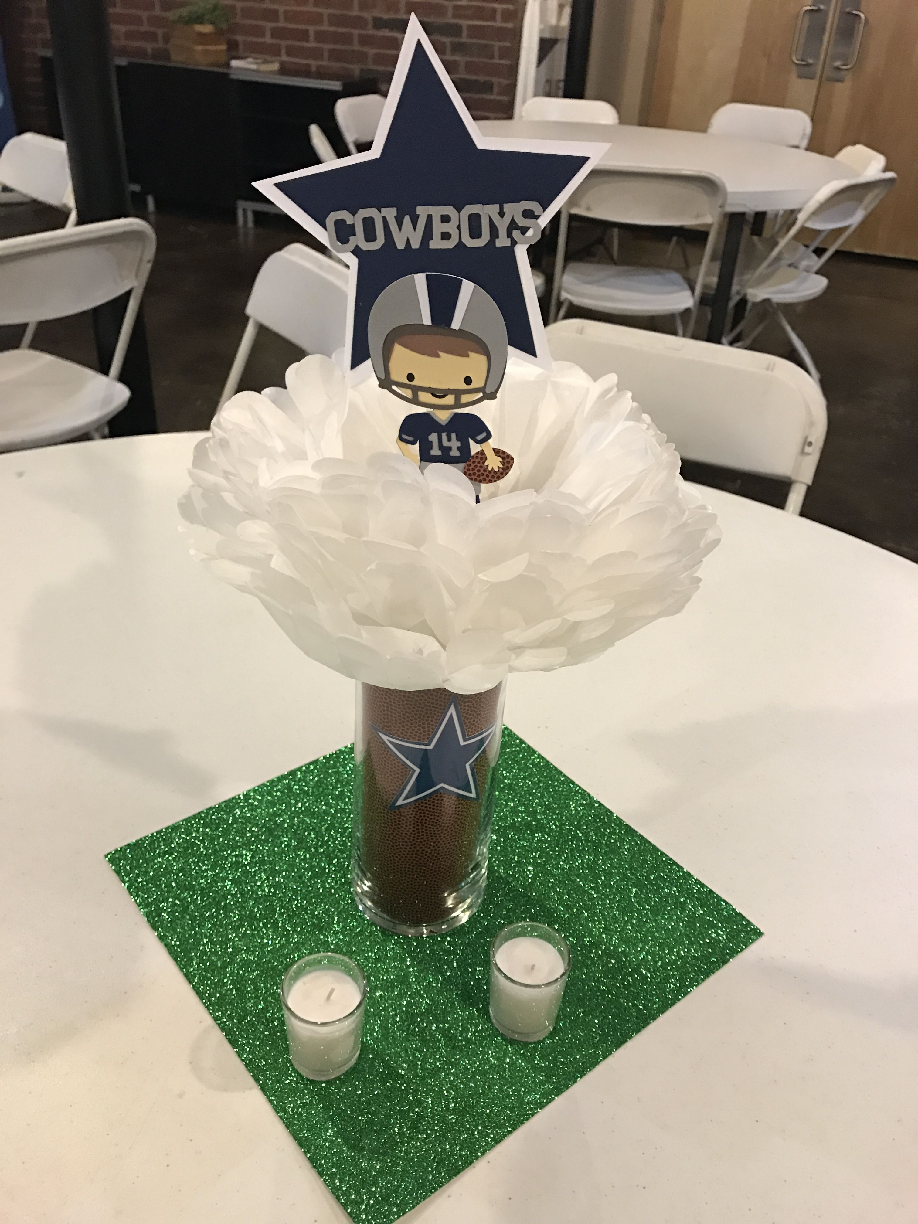 Dallas Cowboys Table Centerpieces For A Baby Shower