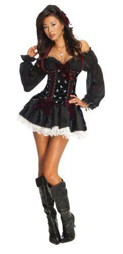 Amazon.com Playboy Secret Wishes Swashbuckler Pirate Costume Clothing  sc 1 st  Pinterest & Playboy Secret Wishes Swashbuckler Pirate CostumeBlackX-Small ...