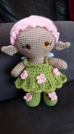 Ravelry: Weebee Big Head Flower Fairy Baby Doll pattern by Laura Tegg