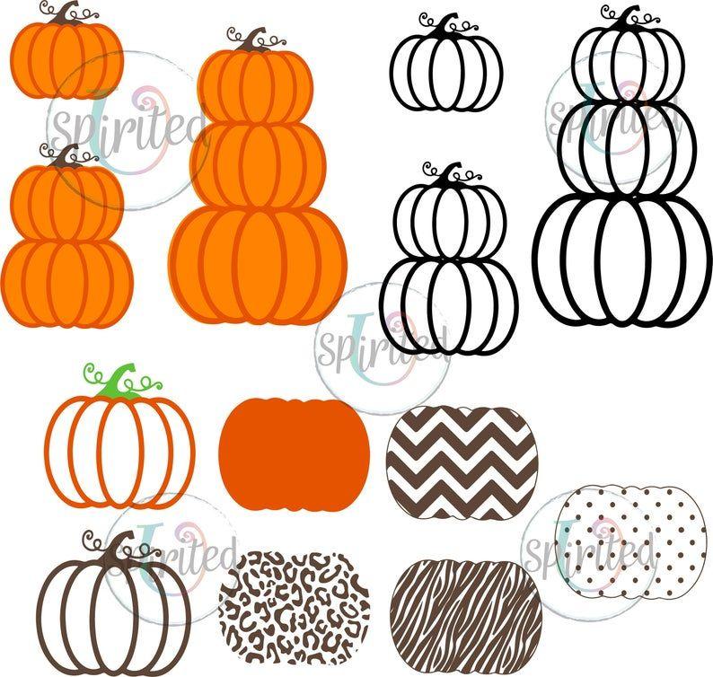 Pumpkin SVG/ Stacked pumpkins svg/ Pumpkin clipart/ Fall