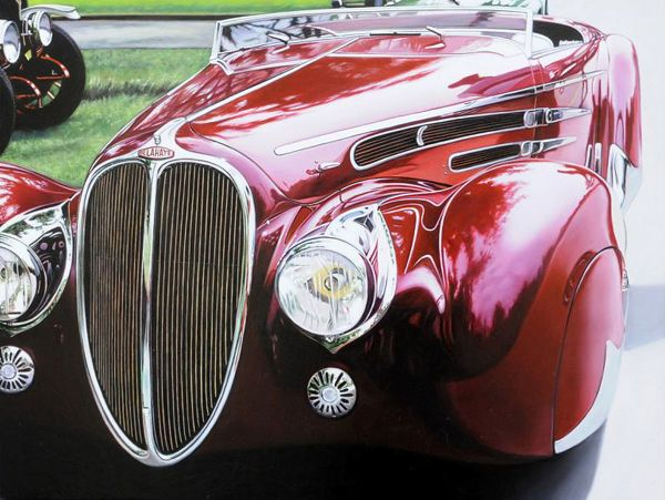 Photo Realistic Muscle Car Paintings By Cheryl Kelley Auto