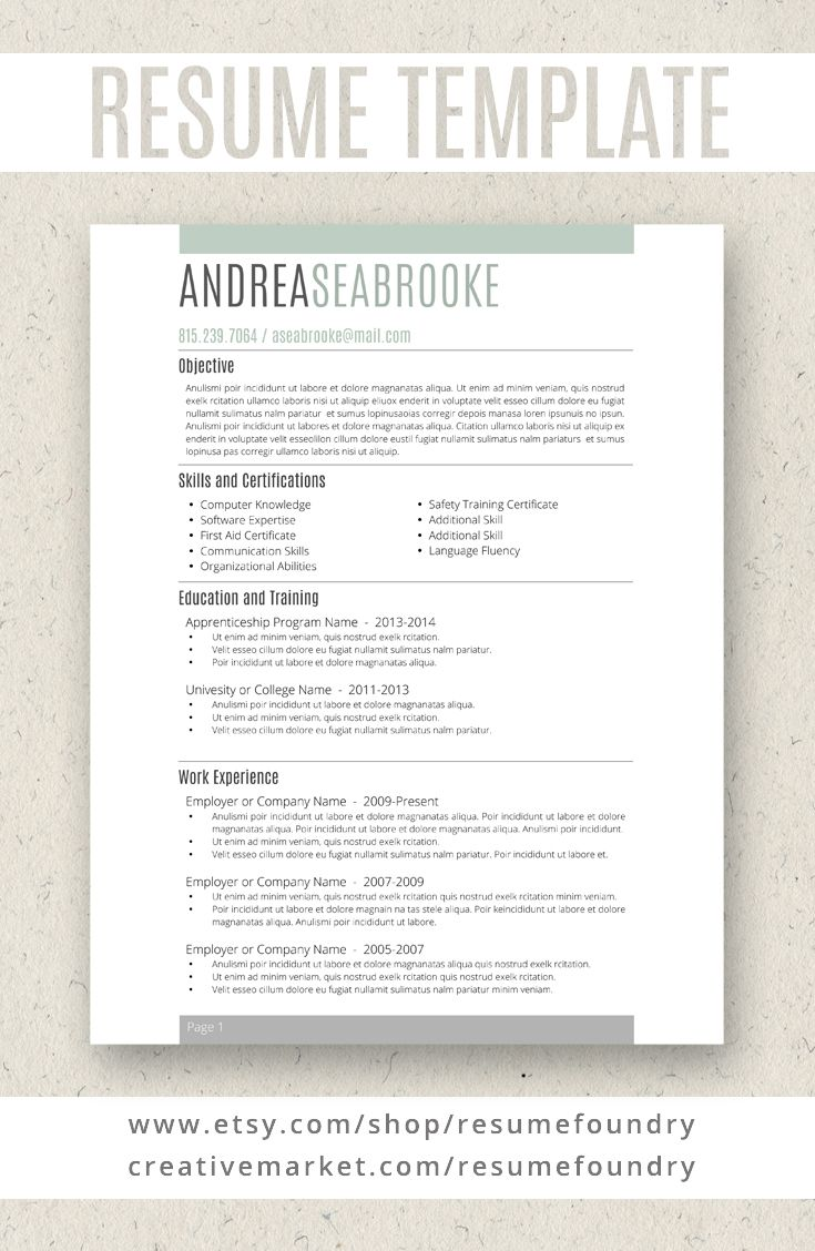 student resume template for word 1 3 page resume cover letter