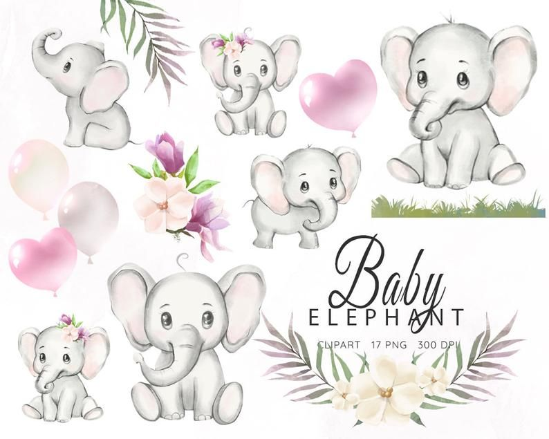 Watercolor Elephant Baby Elephant Clipart Watercolor Little Etsy In 2021 Elephant Illustration Baby Elephant Watercolor Elephant