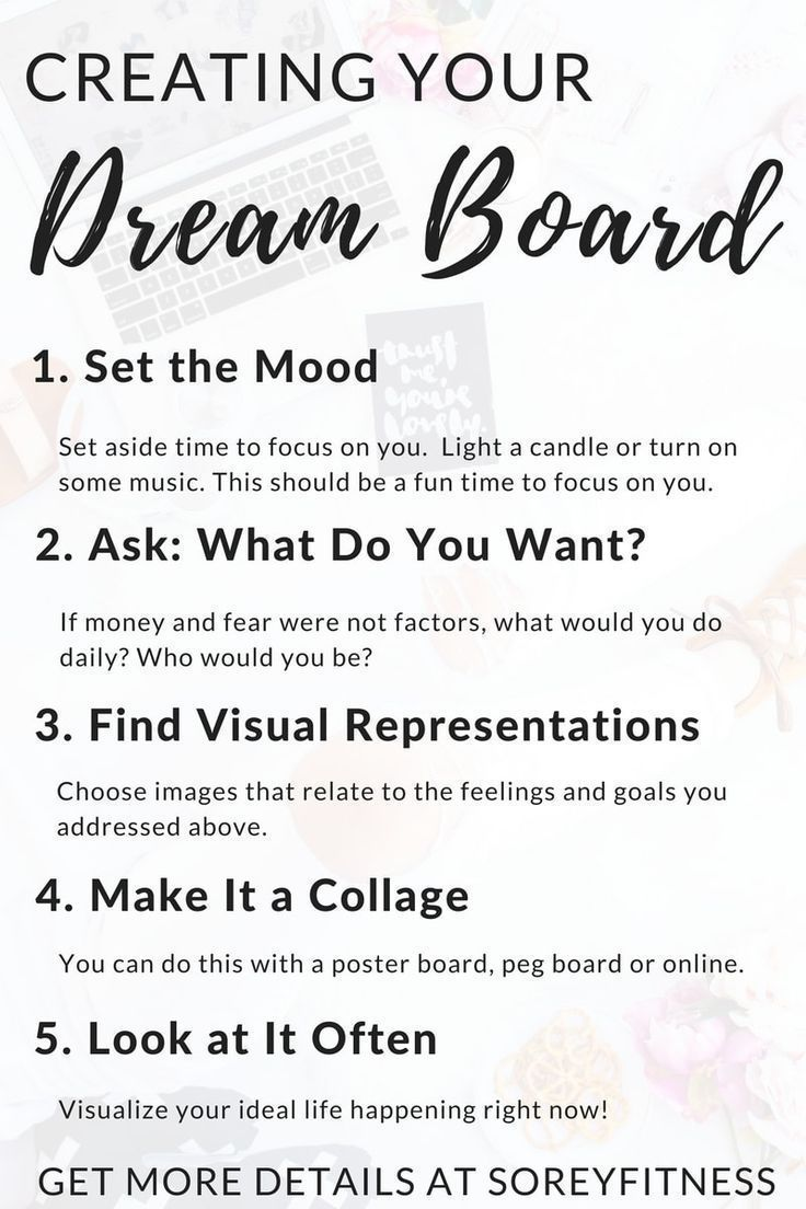 How to Make a Vision Board in 5 Simple Steps - Dream Board