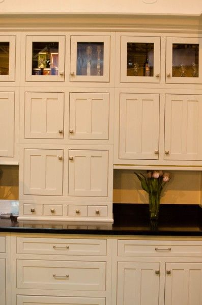 Wall of Adirondack Wall Cabinets. Great look for a kitchen with the ...