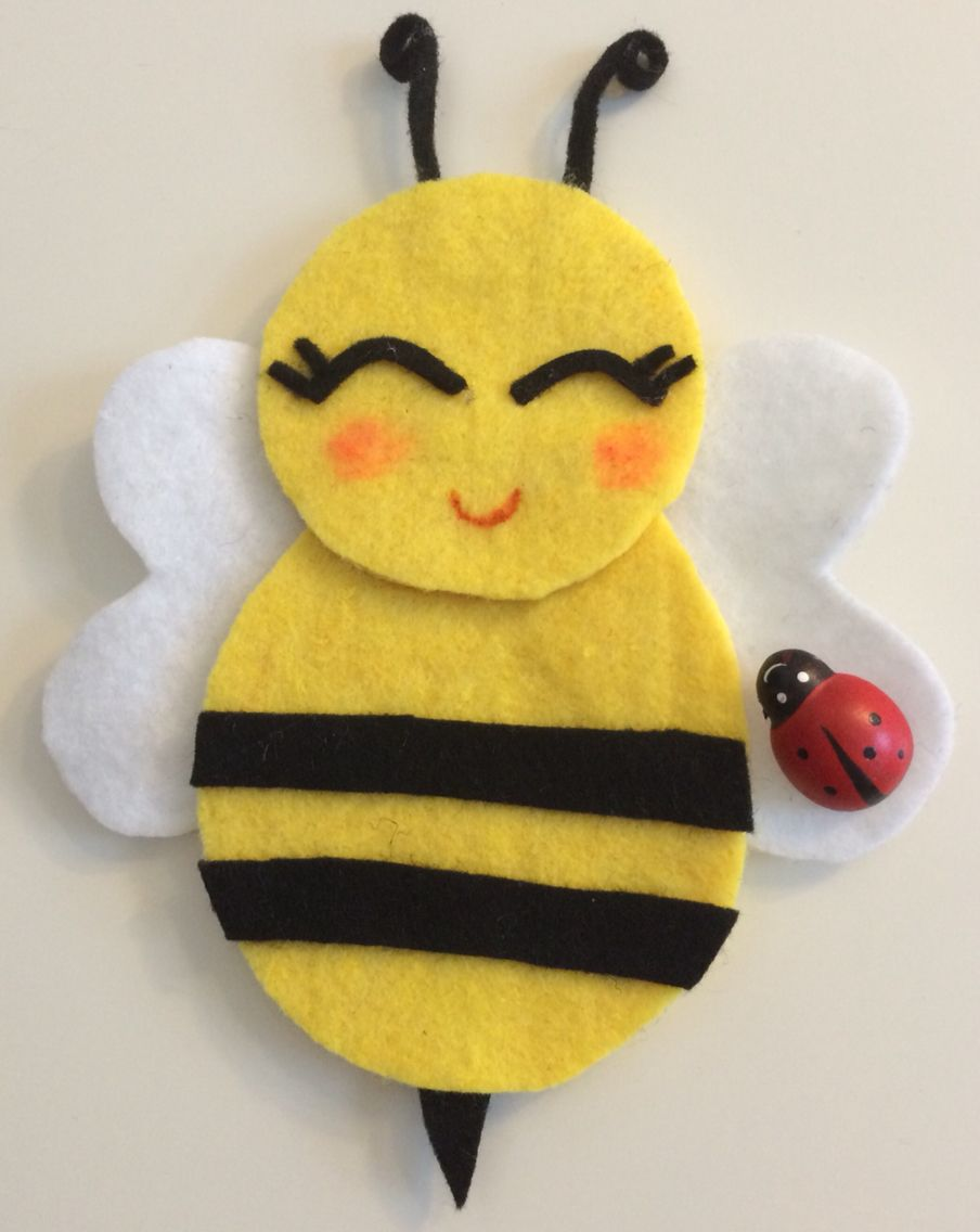 Filz Biene - Felt Bee | Kreativ | Pinterest | Babies