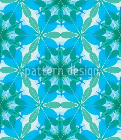 Lagoon Kaleidoscope Pattern Design, designed by Martina Stadler    High-quality Vector Pattern from patterndesigns.com