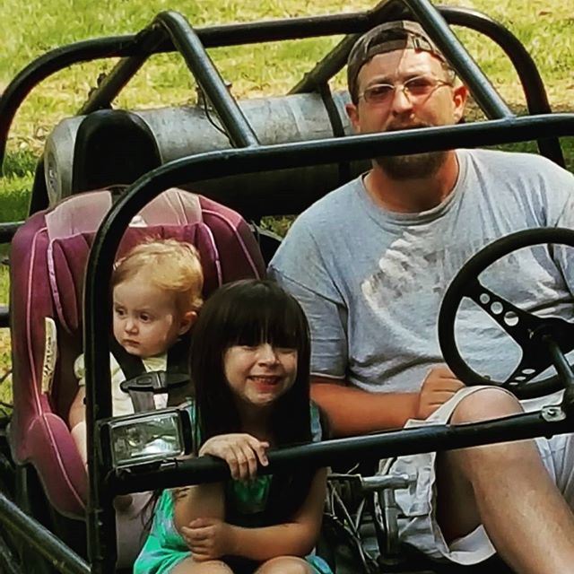 The LOVES of my life in our #dunebuggy #railbuggy #Family