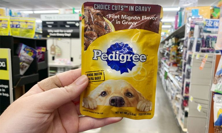 Pedigree Dog Food Pouches Only 0 28 At Dollar General