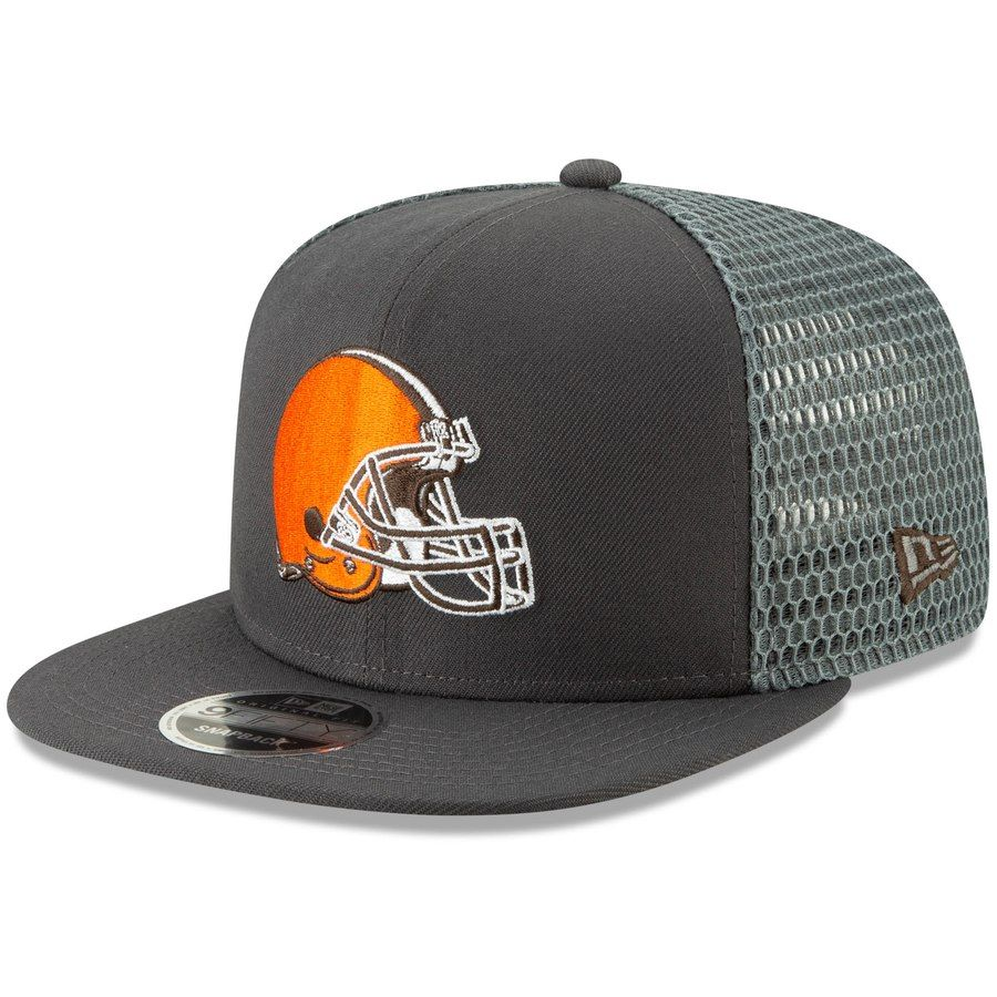 4ab5eb4ebbcb2 Men s Cleveland Browns New Era Graphite Mesh Fresh 9FIFTY Adjustable Snapback  Hat