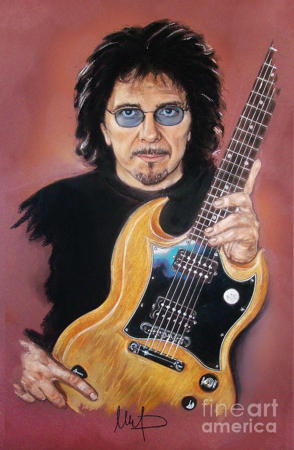 Tony Iommi Mixed Media by Melanie D
