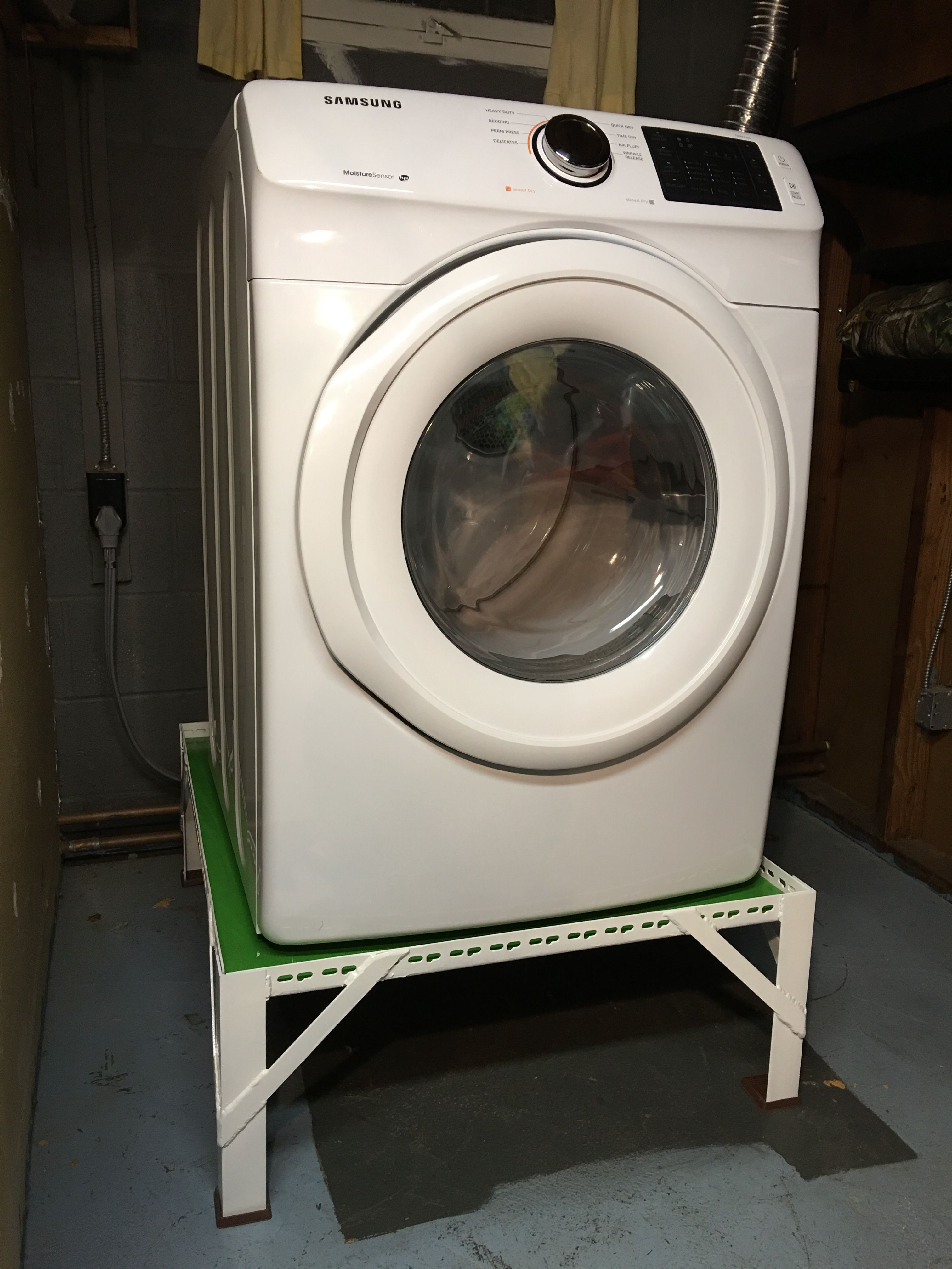 b71bff24a375ef DIY Steel Washer Dryer Pedestal. Made with steel, along with a wood  platform. If you are interested in obtaining a stand for your washer or  dryer- please ...