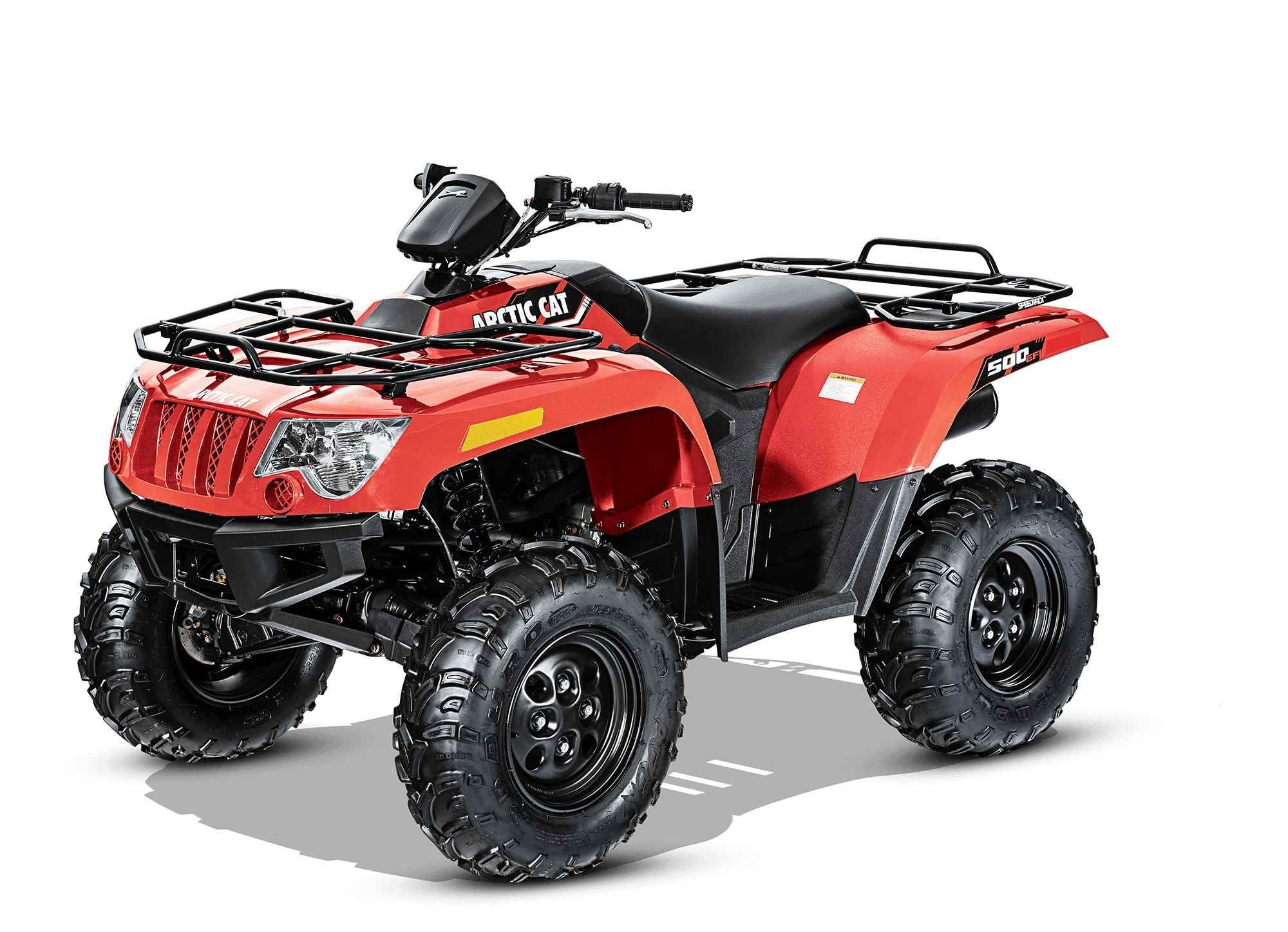 New 2016 Arctic Cat Cat 500 Classic Red ATVs For Sale in California. 2016 Arctic Cat Cat 500 Classic Red, The 500 is an industry favorite for a reason. The 443cc, SOHC, liquid-cooled single-cylinder engine delivers smooth, consistent acceleration. Electronic fuel injection enables a wide torque curve and effortless power delivery by constantly tuning the engine for any temperature, elevation and humidity changes.