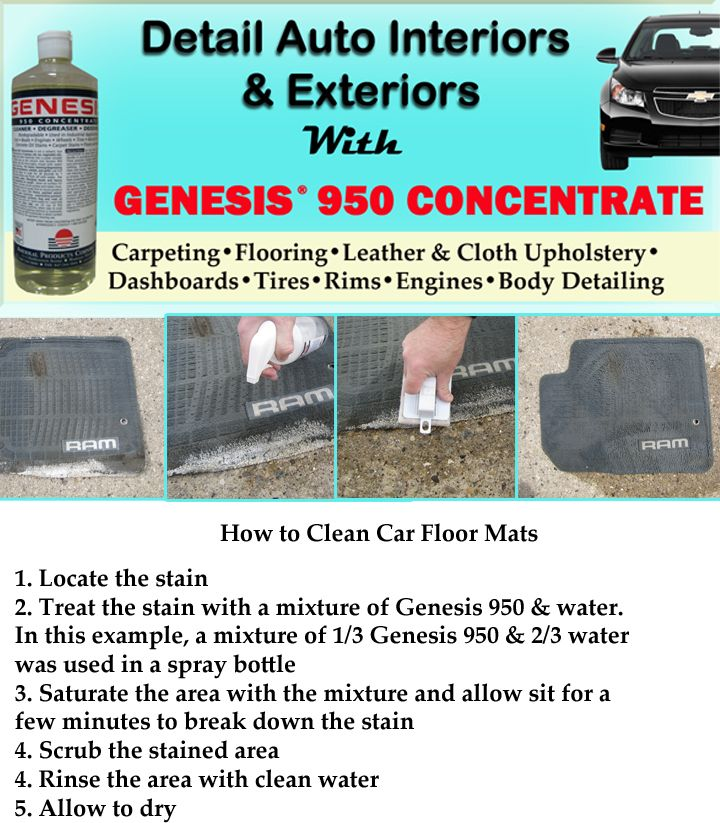 How To Clean Car Floor Mats With Genesis 950 Is Perfect For DIY Detailers From Carpet Rims And Tires