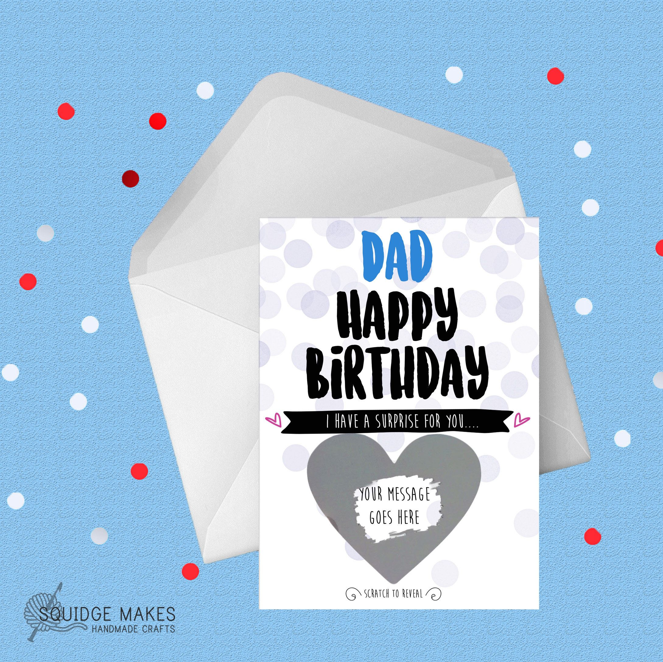 Dad Scratch Card Funny Birthday Card Daddy Husband