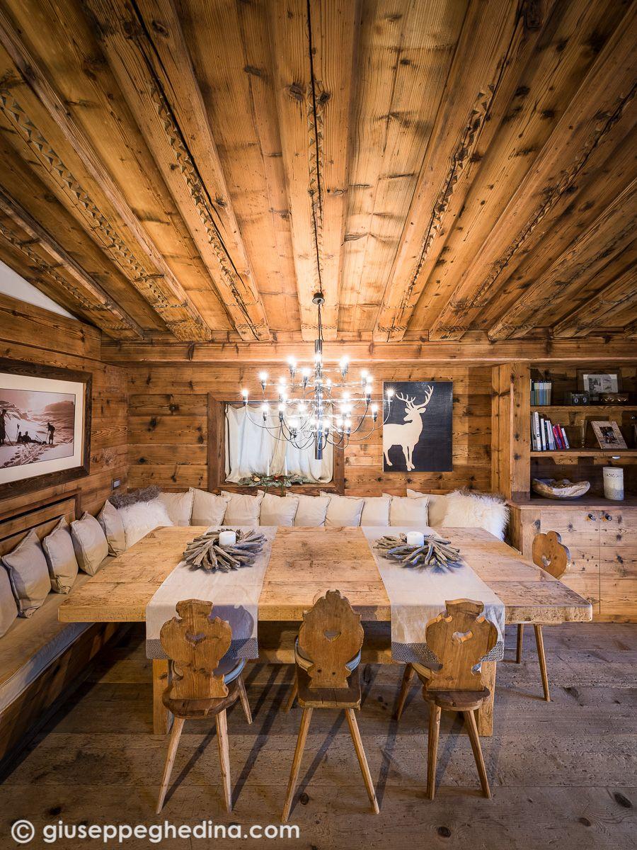 Interni a cortina arredamento baita di montagna for Case di lusso interni