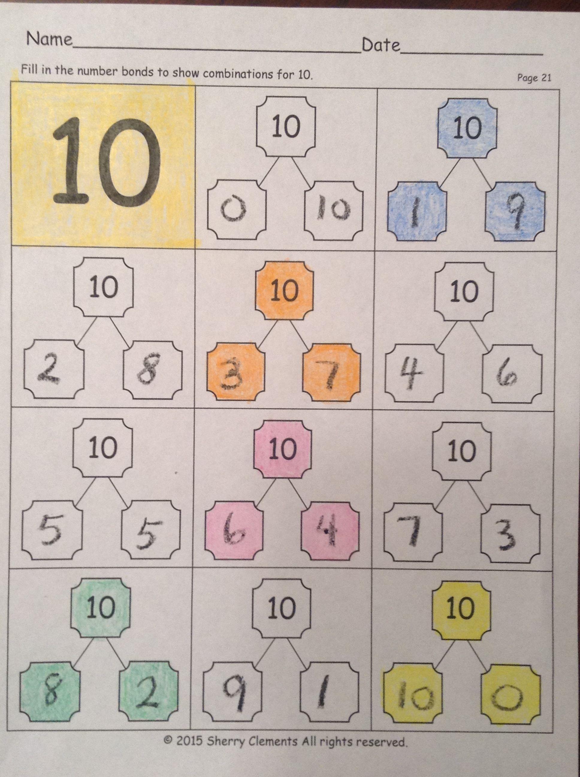 Kindergarten Included Homework Variety Centers