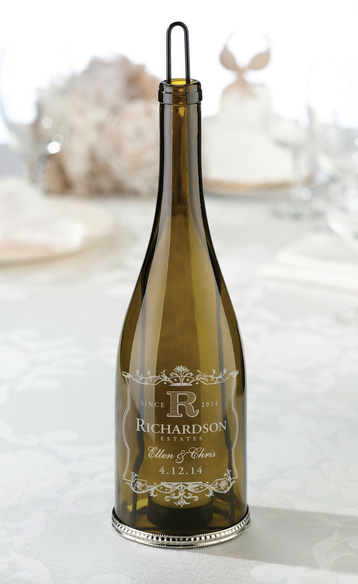 Wine  Vineyard Wine Bottle Tealight Holder ...