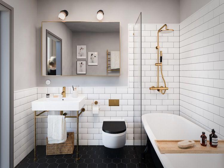 A vous de trouver la petite salle de bain moderne de vos rêves - salle de bain carrelee