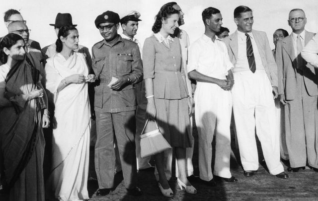 SAS Inaugural flight to Calcutta, India, to Bangkok DMK, December 1949.
