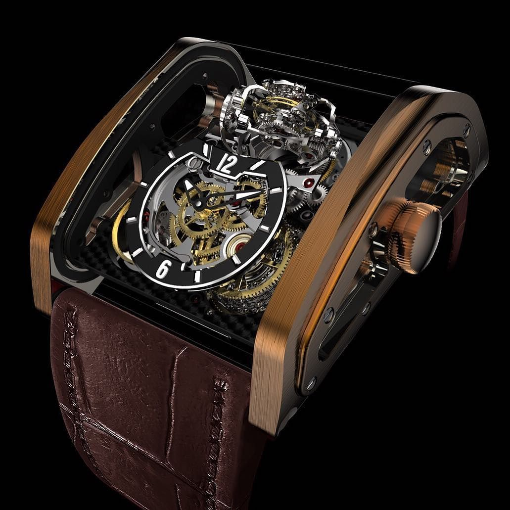 winch pcs ltd tourbillon edition titanium vertical watches in cabestan