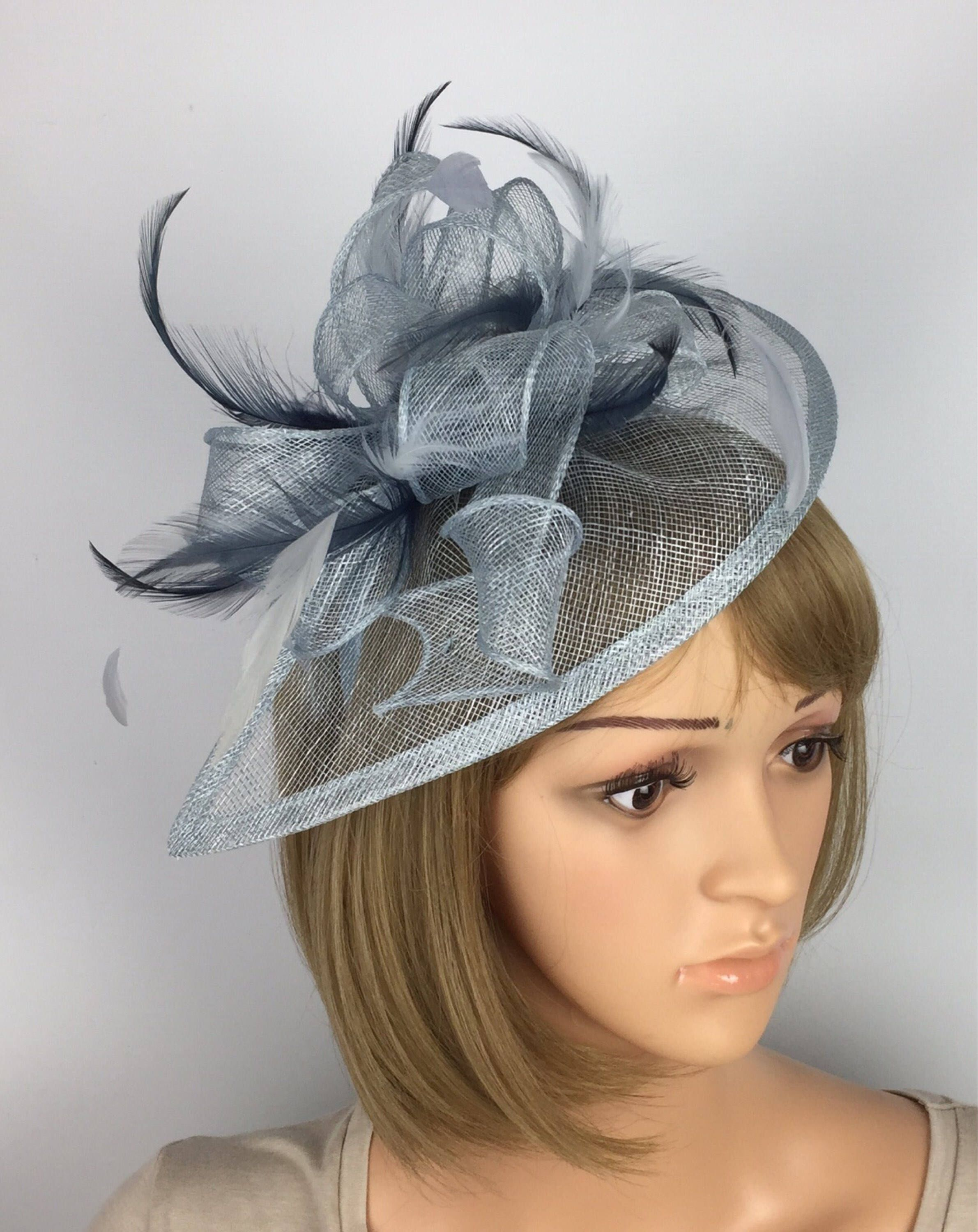 9607e110b40ec Pale Blue and Navy Blue Fascinator Mother of the Bride Wedding ...