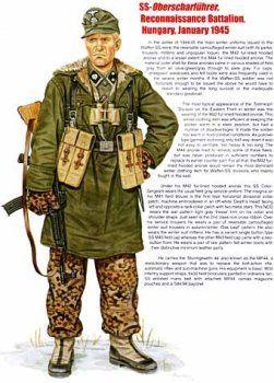 Waffen SS - SS-Obershutzfuehrer - Battaglione da ricognizione, Ungheria 1945