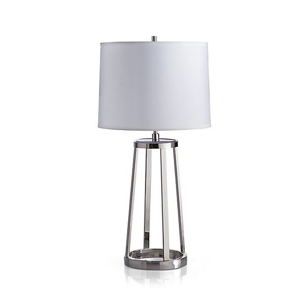 Stanza Nickel Table Lamp Nickel Table Lamps Lamp Energy Efficient Bulbs