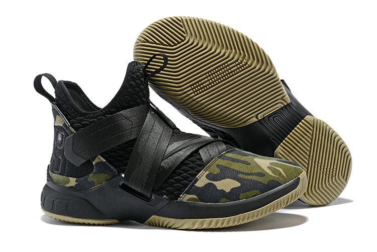 "409d650d660 Nike LeBron Soldier 12 SFG ""Camo"" Black Black-Hazel Rush in 2019 ..."