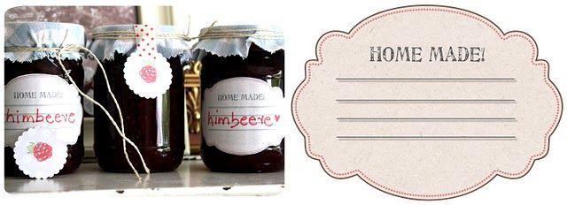 ♥ printable jam labels